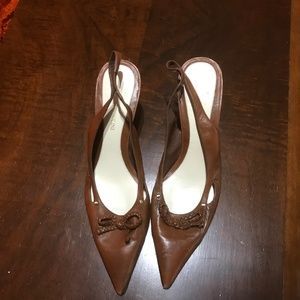 Enzo Angiolini Leather sling Back Pumps 8.5